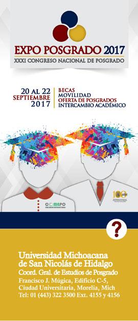 XXXI Congreso Nacional de Posgrado y a la Expo Posgrado 2017